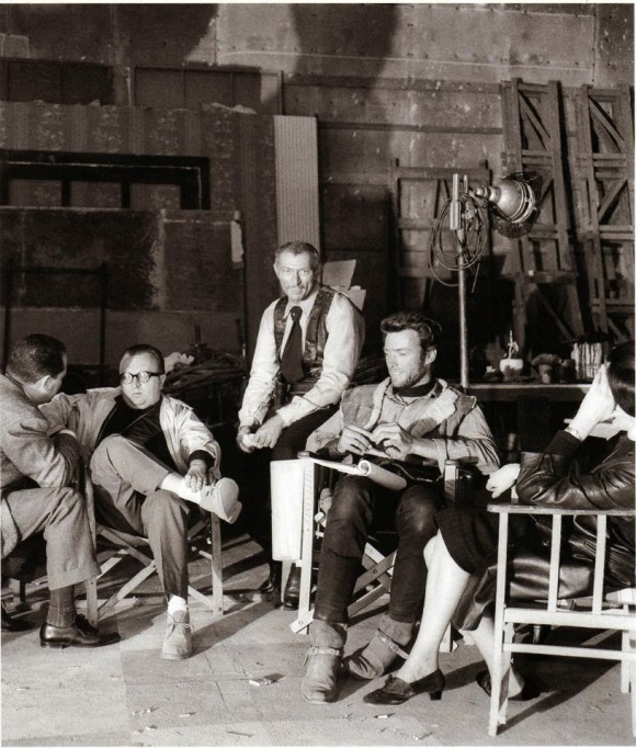 12_Director Sergio Leone, Lee Van Cleef and Clint Eastwood on the set of For a Few Dollars More..jpg